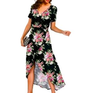 COPY - PRINSTORY Women's Summer High Low Dress